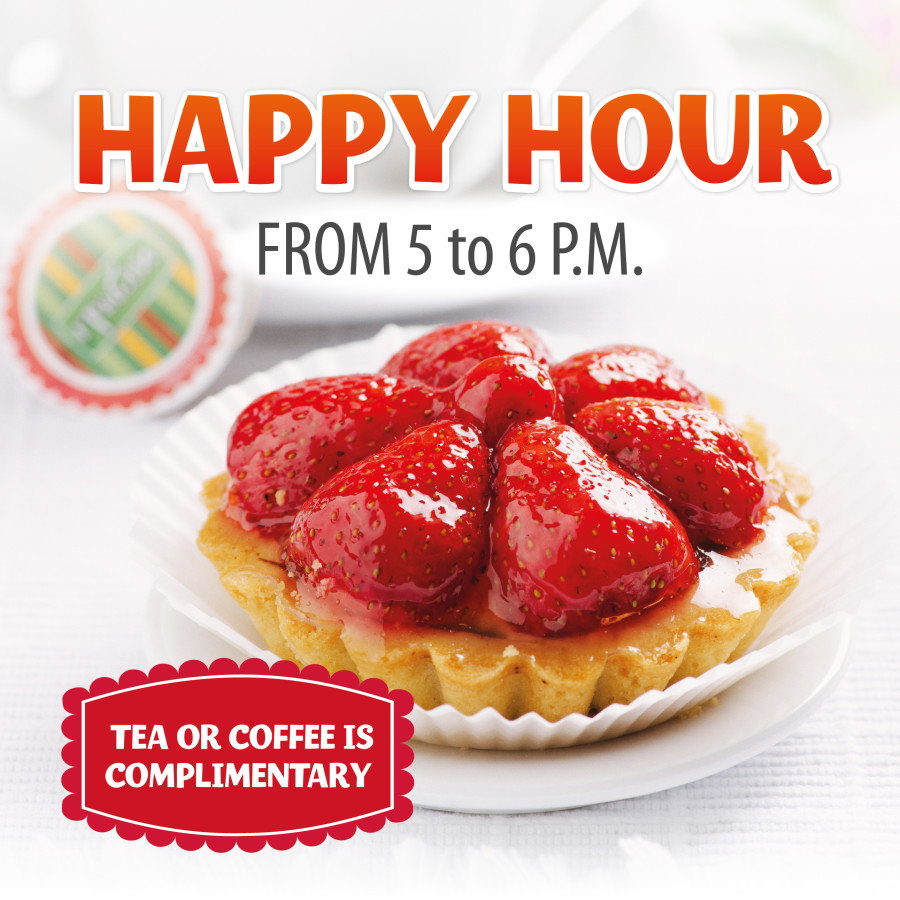 HAPPY HOUR <br /> from 5 to 6 p.m.